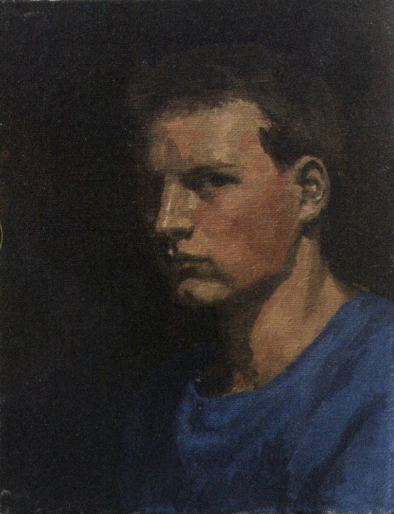 Self-portrait, 1987, 60x50, oil on canvas