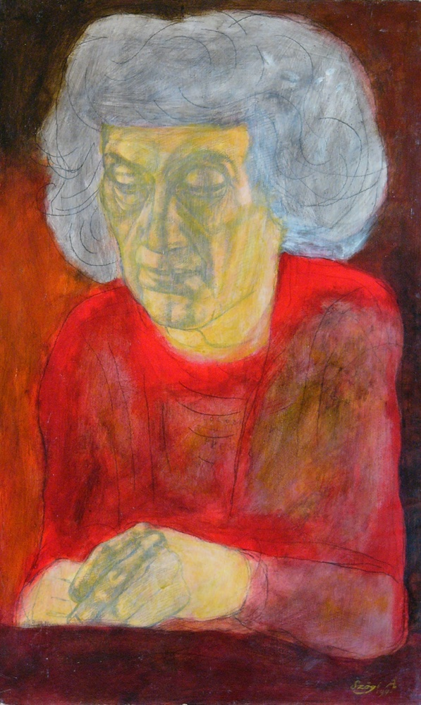 Old lady, 1991, 50x30cm, acryl on cardboard