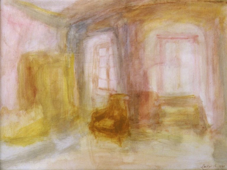 Room, 1991, 40x50cm, acryl on cardboard