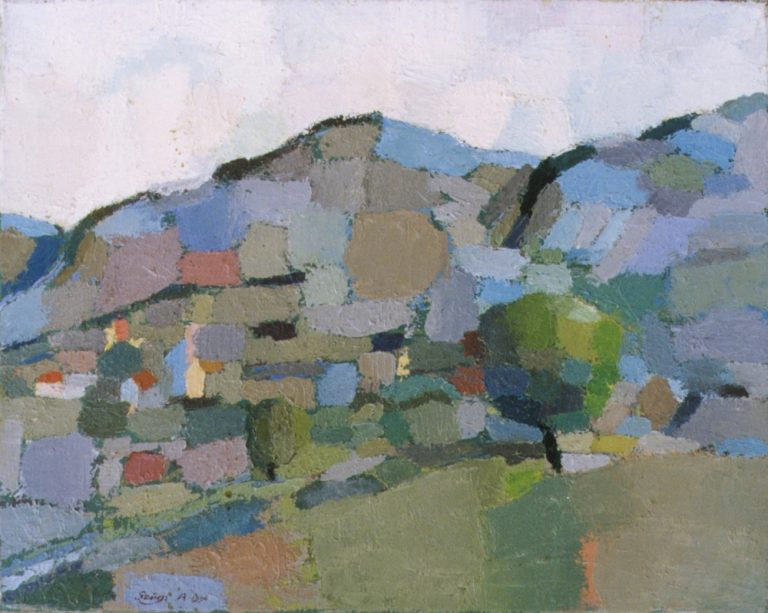 Mountains 1., 1994, 50x60cm, oil on canvas
