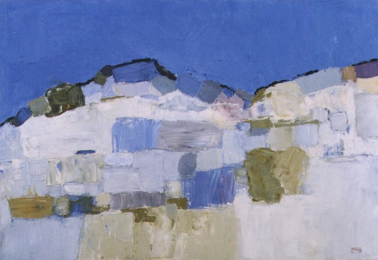 Mountains 3., 1994, 70x100cm, oil on canvas
