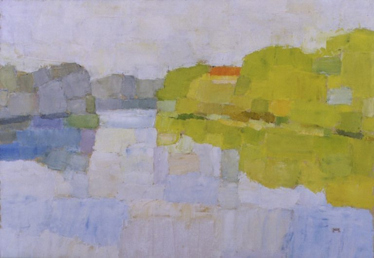 Tiszadob, 1995, 70x100cm, oil on canvas